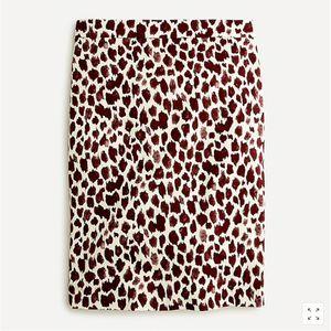 J.CREW No.2 Pencil Giraffe bi-stretch Cotton Skirt